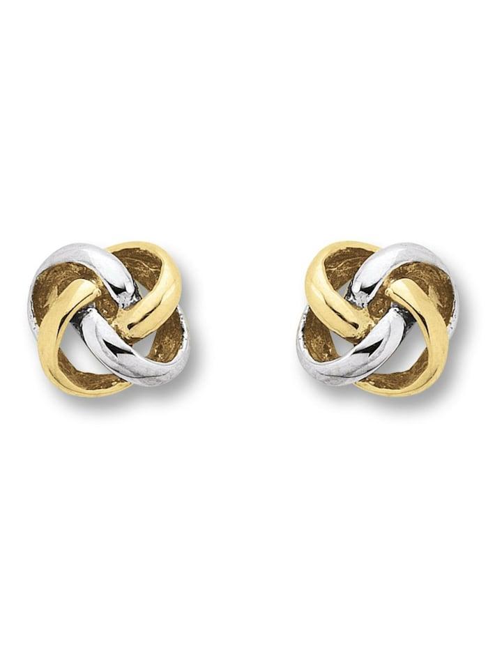 One Element Damen Schmuck Ohrringe / Ohrstecker Knoten aus 333 Gelbgold, gold