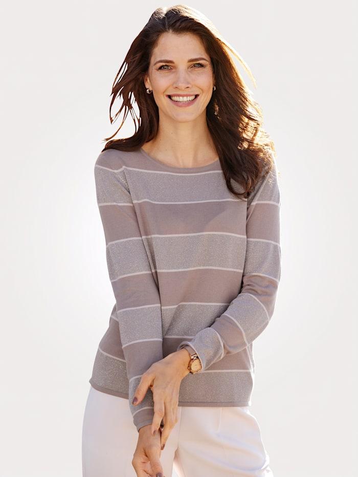 MONA Pullover aus Feinstrick, Rosé/Rosenholz