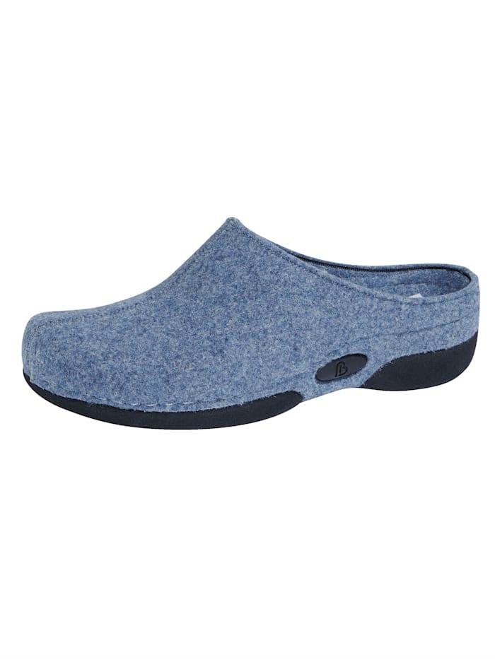 Berkemann Pantoffel mit rutschhemmender Laufsohle, Blau