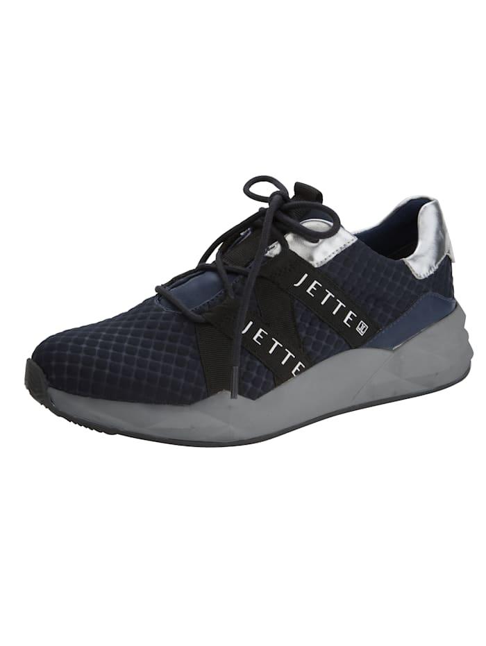 Jette Sneaker aus struckturiertem Textilmaterial, Marineblau