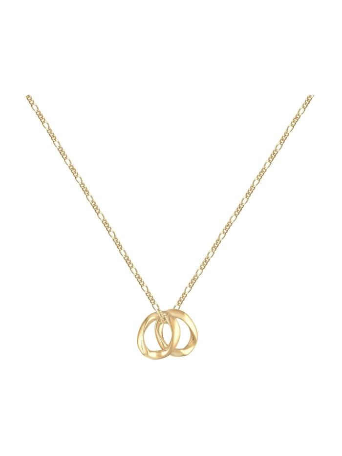 Halskette Layering Zwei Anhänger Organic Figaro 925 Silber