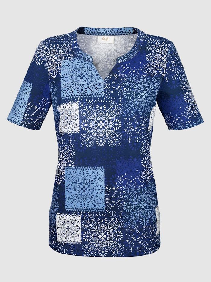 T-shirt à motif patchwork