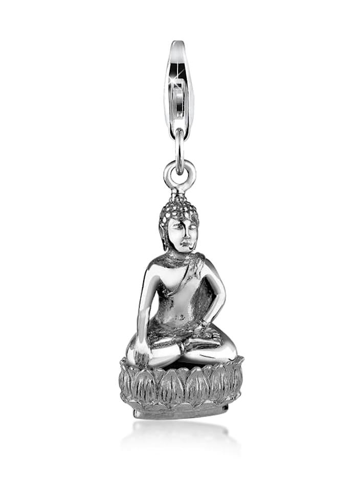 Nenalina Charm Buddha Karma Talisman Trend Symbol 925 Silber, Silber