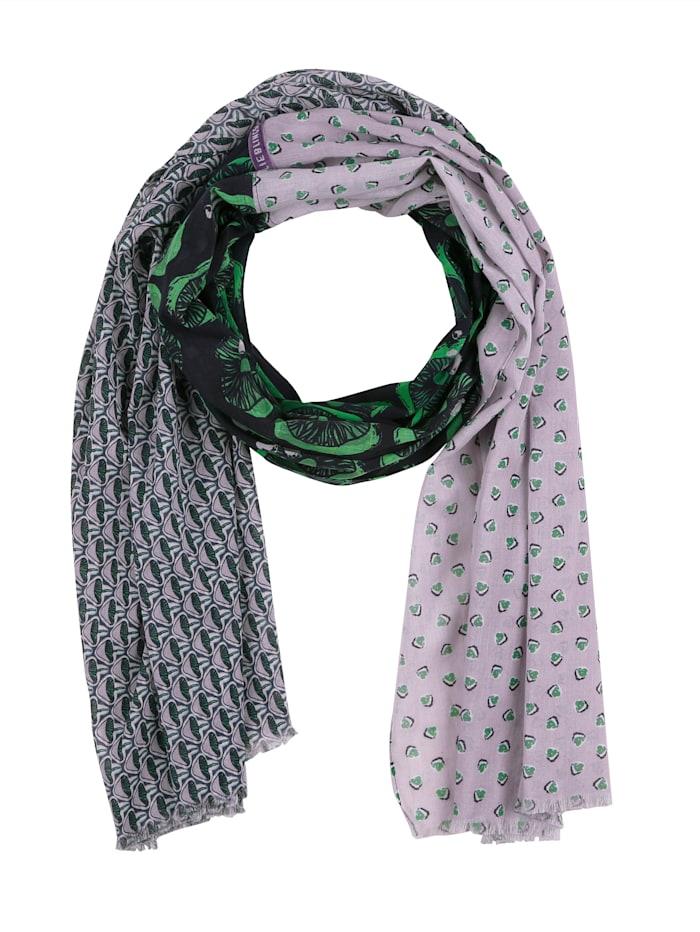 Lieblingsstück Sjaal met print rondom, Lichtblauw