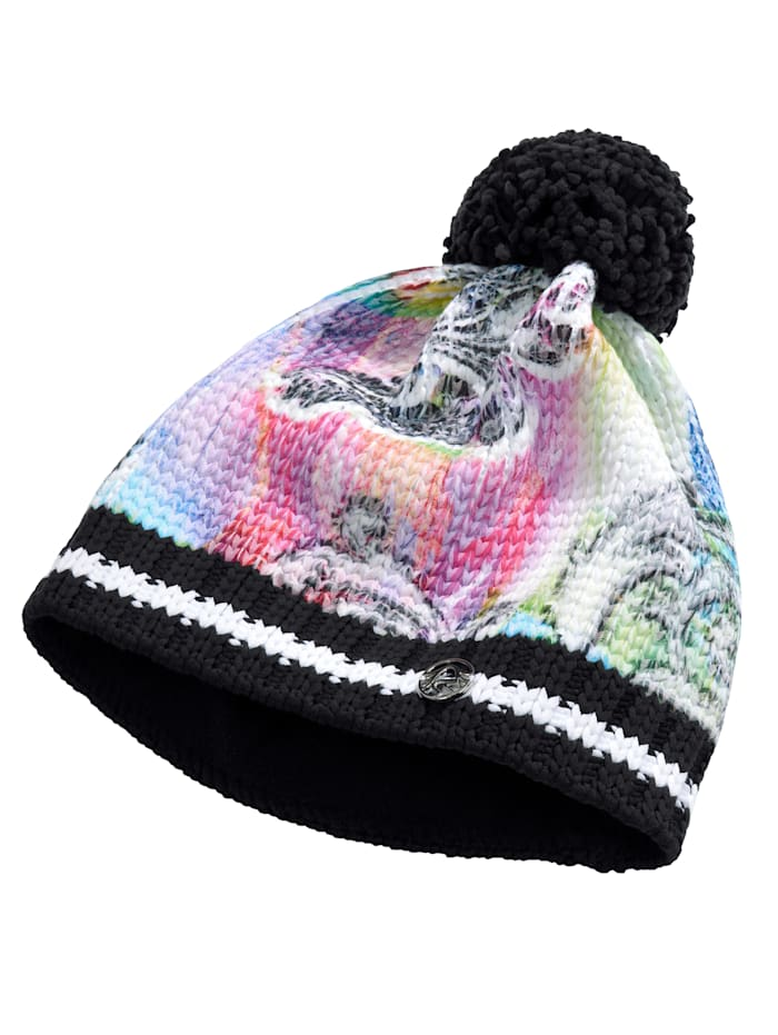 SPORTALM Ski-Mütze mit Bommel, Multicolor