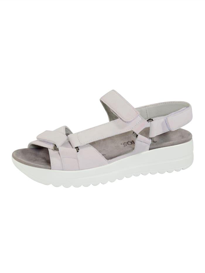 Vamos Sandales avec semelle de marche à coussin d'air, Blanc