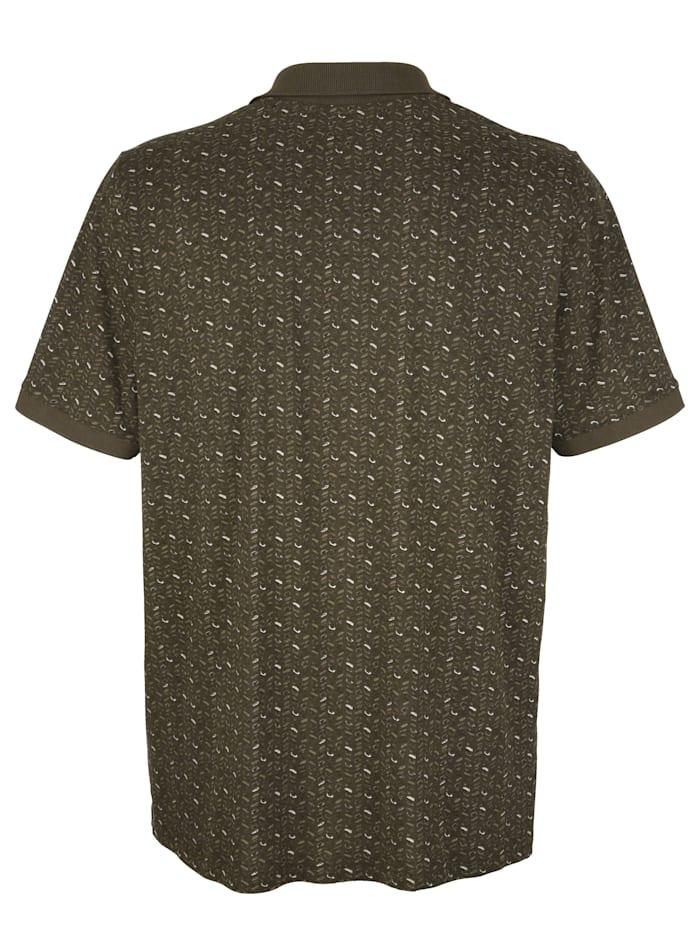 Poloshirt mit Allover-Druckmotiv