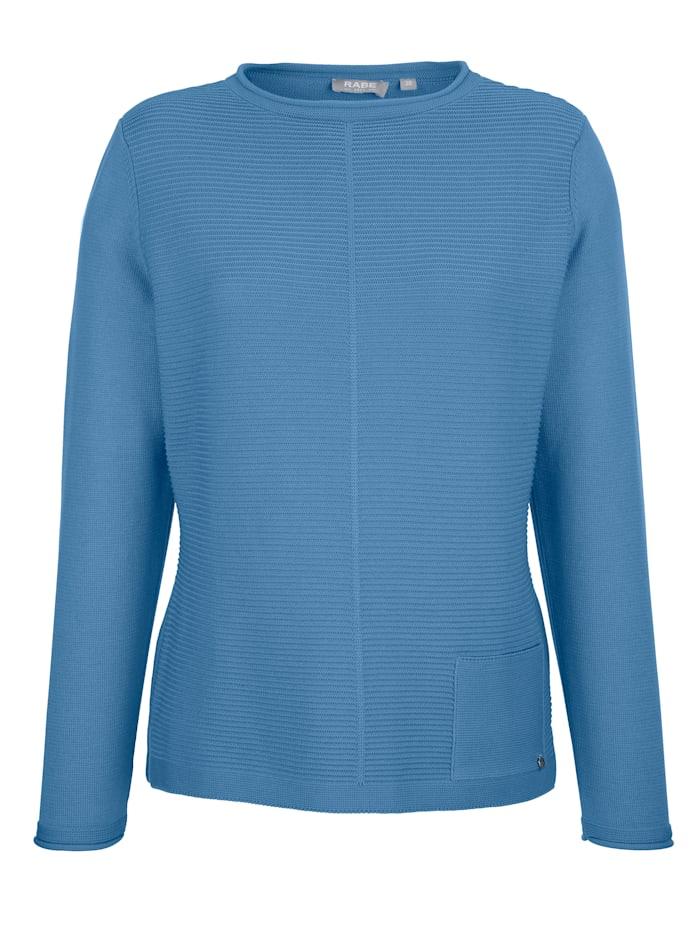 Rabe Pullover mit Strukturstrick, Blau