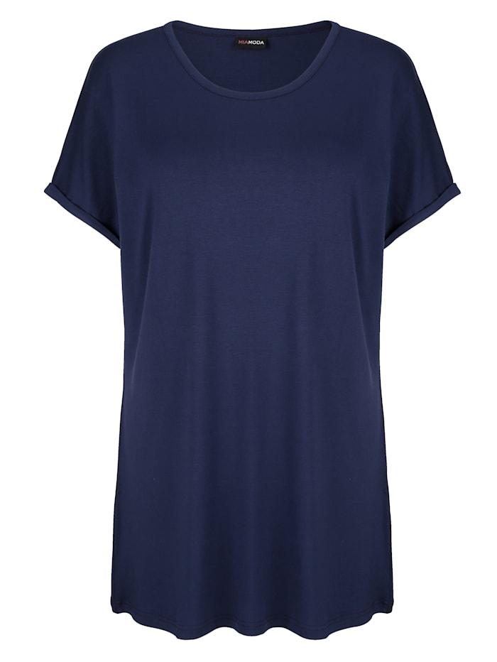 MIAMODA T-shirt long à manches chevauchantes, Marine