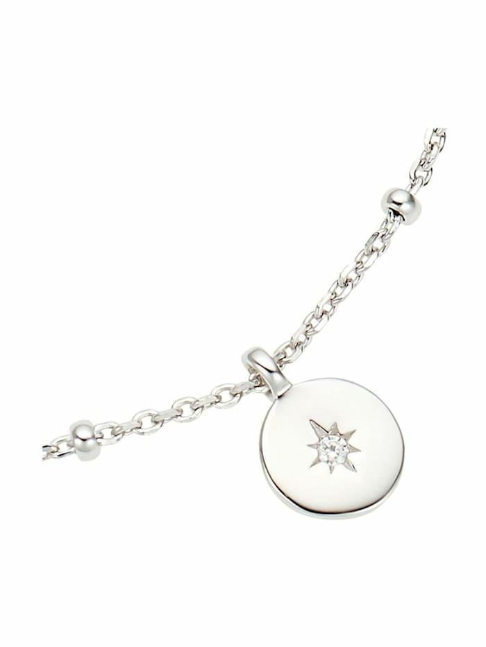Armband für Damen, Sterling Silber 925, Zirkonia Polarstern