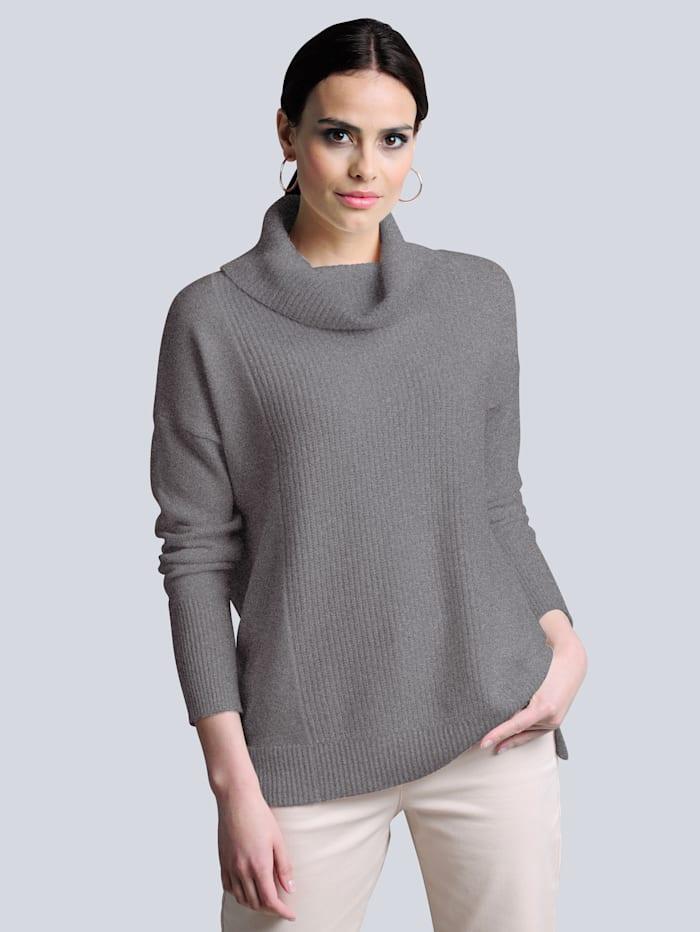 Alba Moda Pullover aus reiner hochwertiger Kaschmirqualität, Grau