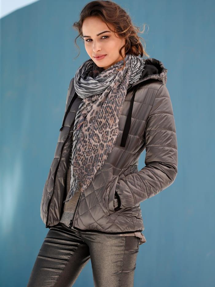 AMY VERMONT Prošívaná bunda s různým prošíváním, Bahenní