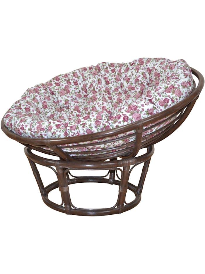 Papasansessel, Durchmesser 80 cm Sessel mit Kissen
