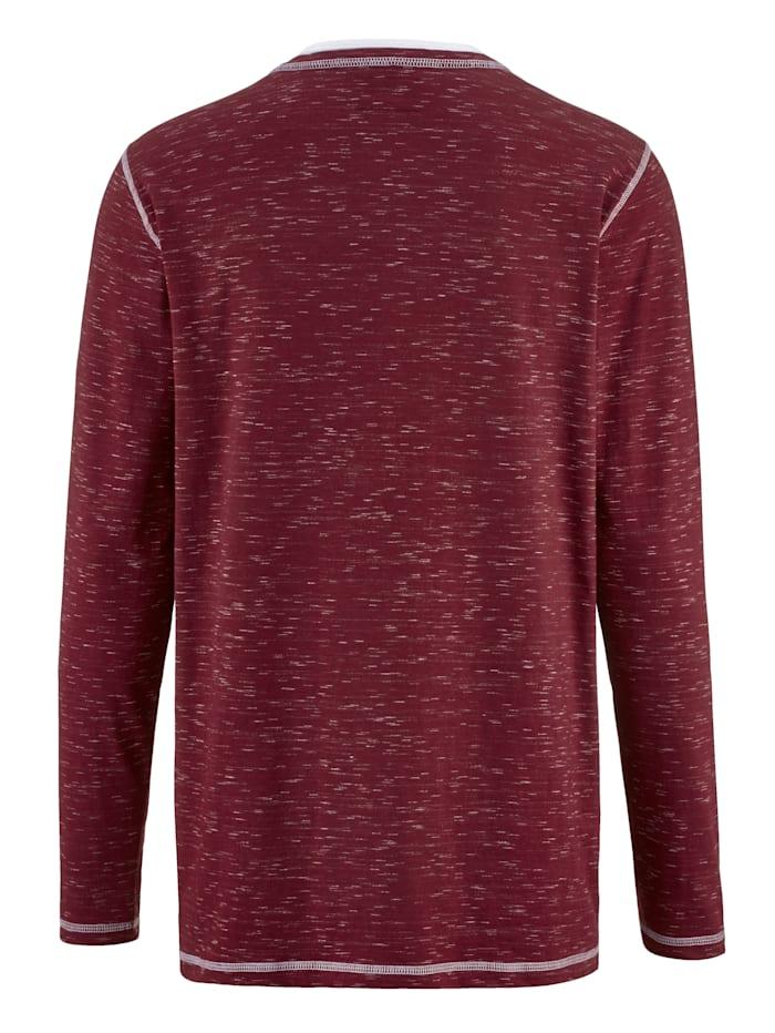 Shirt van tweekleurig vlamgaren