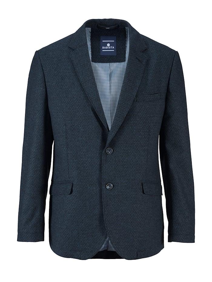 bavlněné sako s dvoubarevným mini vzorem