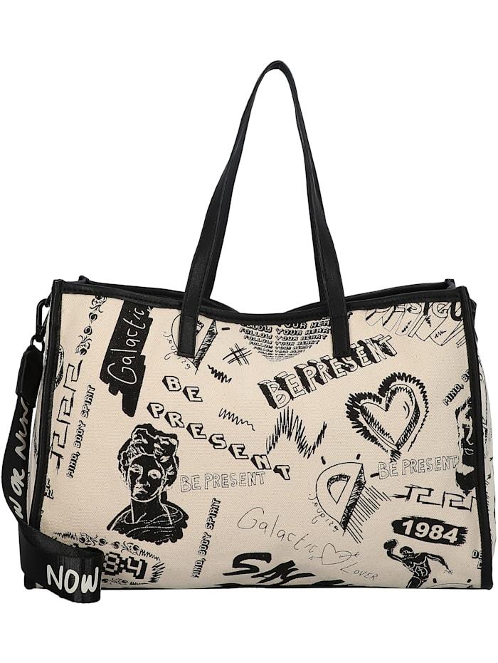 Desigual Jaleo Merlo Shopper Tasche 40 cm, blanco lino