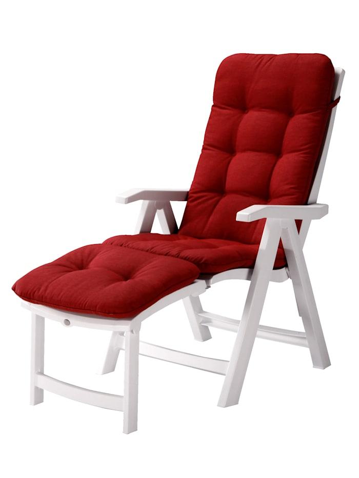 BEST FREIZEITMÖBEL Deckchair mit Auflage, Weiß