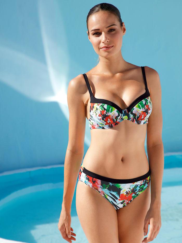 Sunflair Bikini im Animal-Look mit Farbakzenten, Schwarz/Weiß/Rot