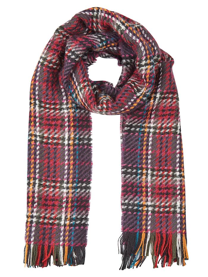 MONA Sjaal, Paars/Multicolor