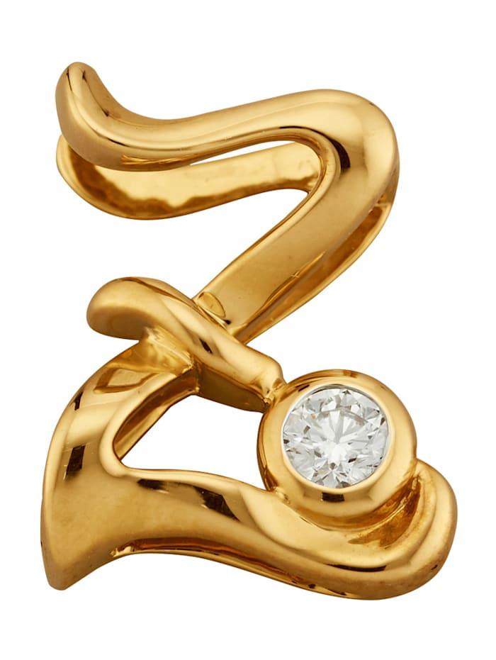 Diemer Gold Buchstaben-Anhänger 'Z', Gelbgoldfarben
