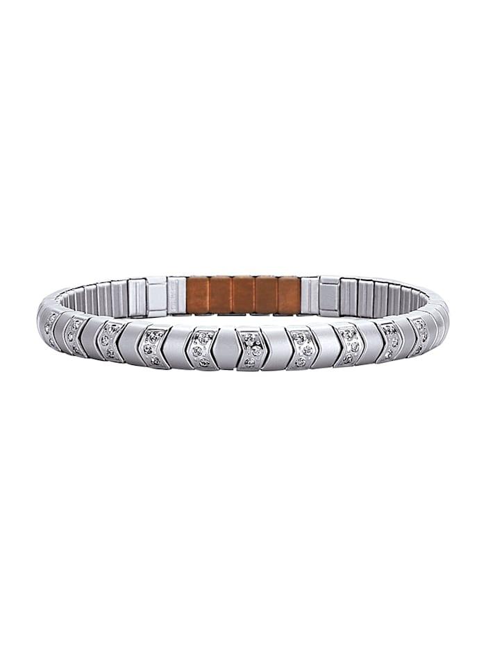 Magnetic Balance Armband met rvs, Zilverkleur