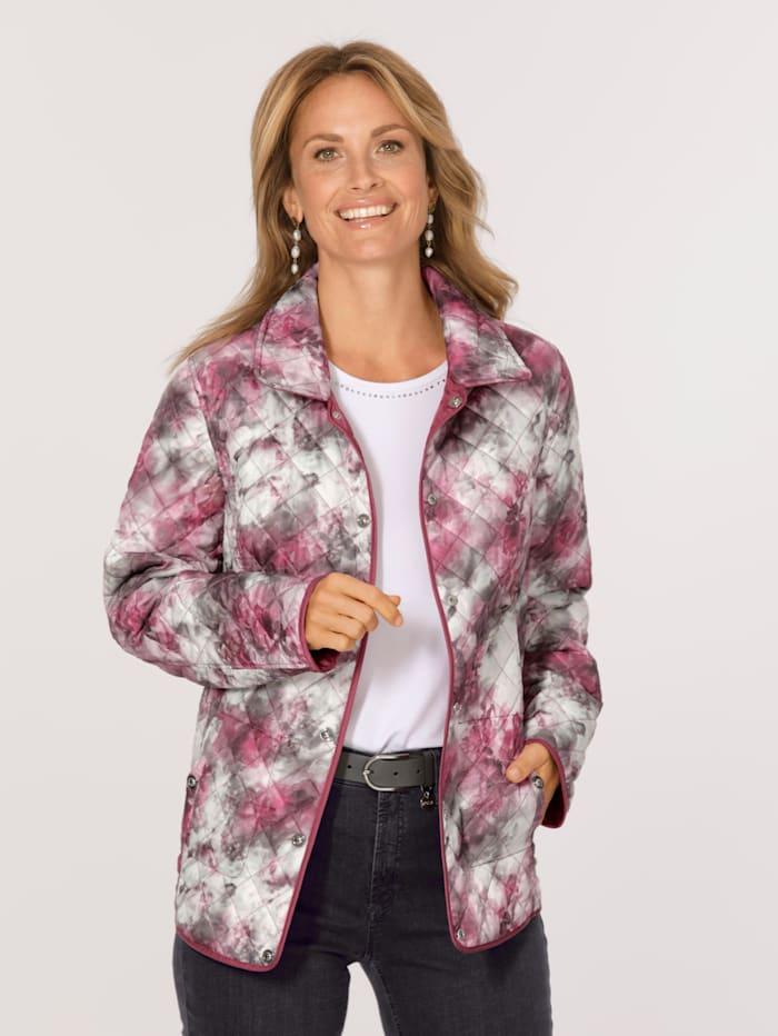 MONA Keerbare jas met lichte wattering, Berry/Roze