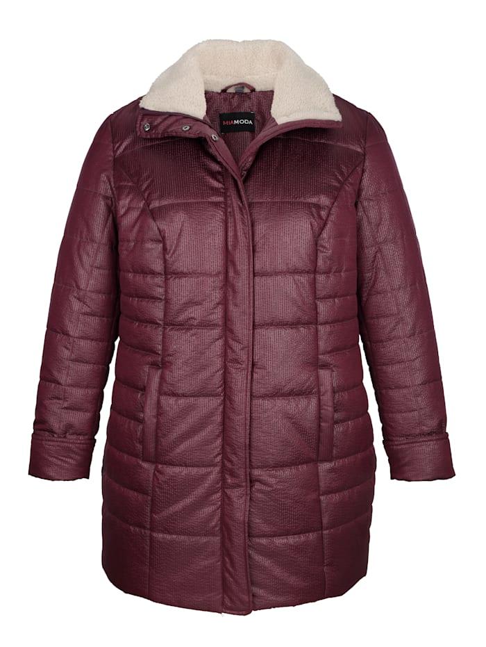 Jacke aus leicht glänzendem, strukuriertem Obermaterial
