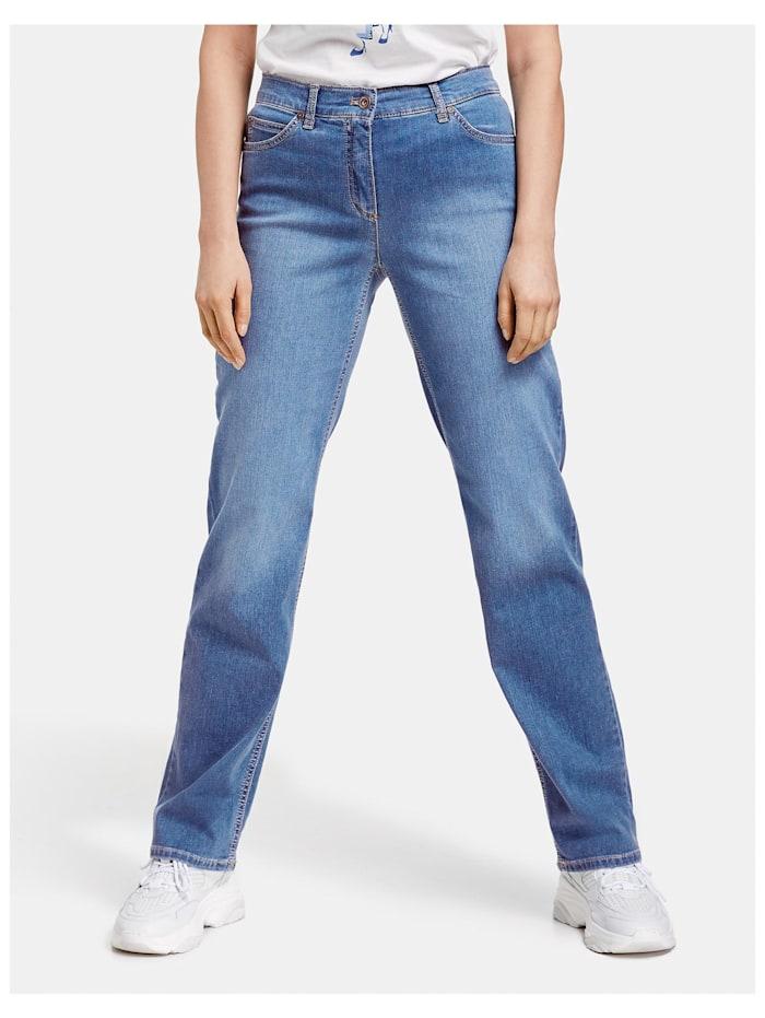 Gerry Weber 5-Pocket Hose Comfort Fit Kurzgröße, blue denim mit use