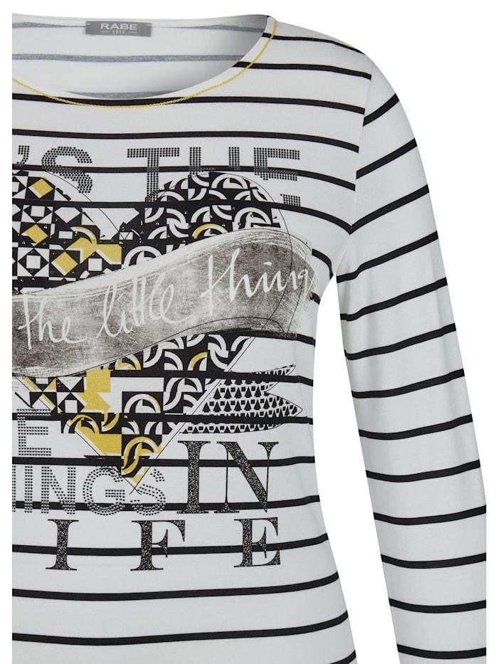 Shirt mit Front-Print und Ziersteinchen