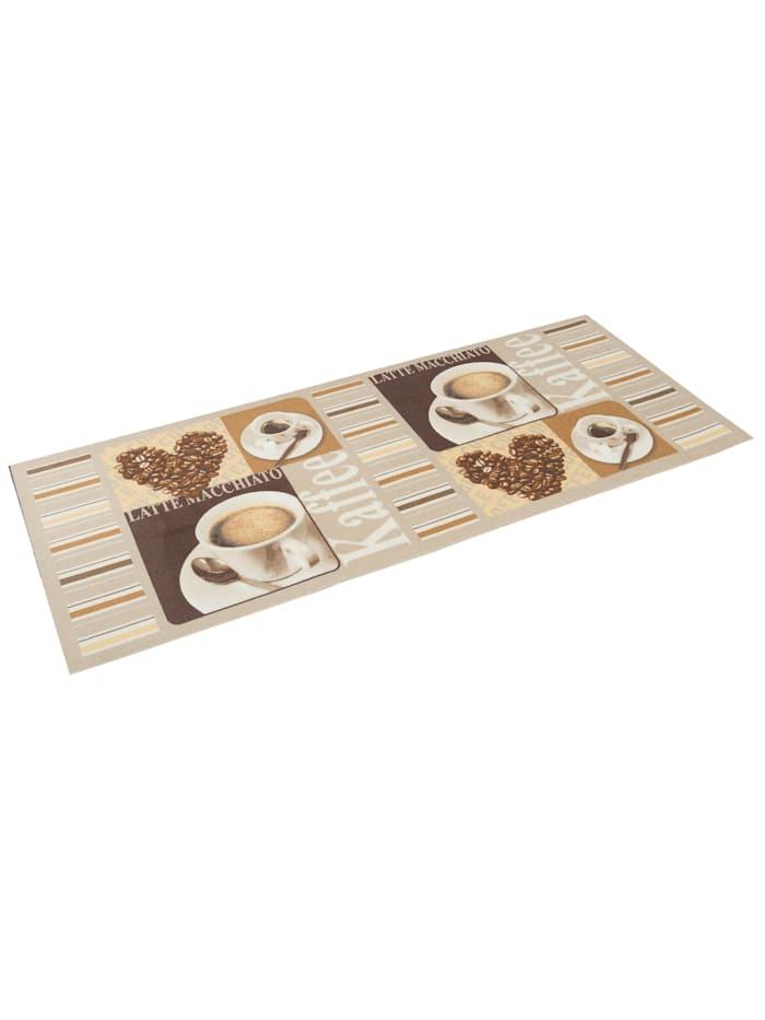 Küchenläufer Teppich Trendy Kaffee Heart