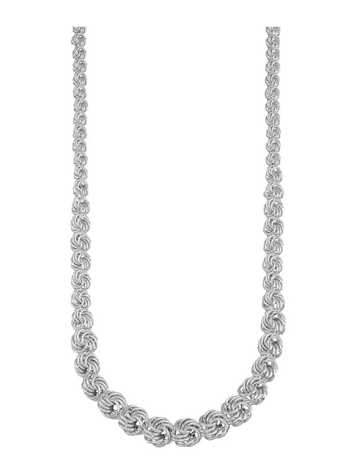 AMY VERMONT Rozenketting van zilver, Zilverkleur