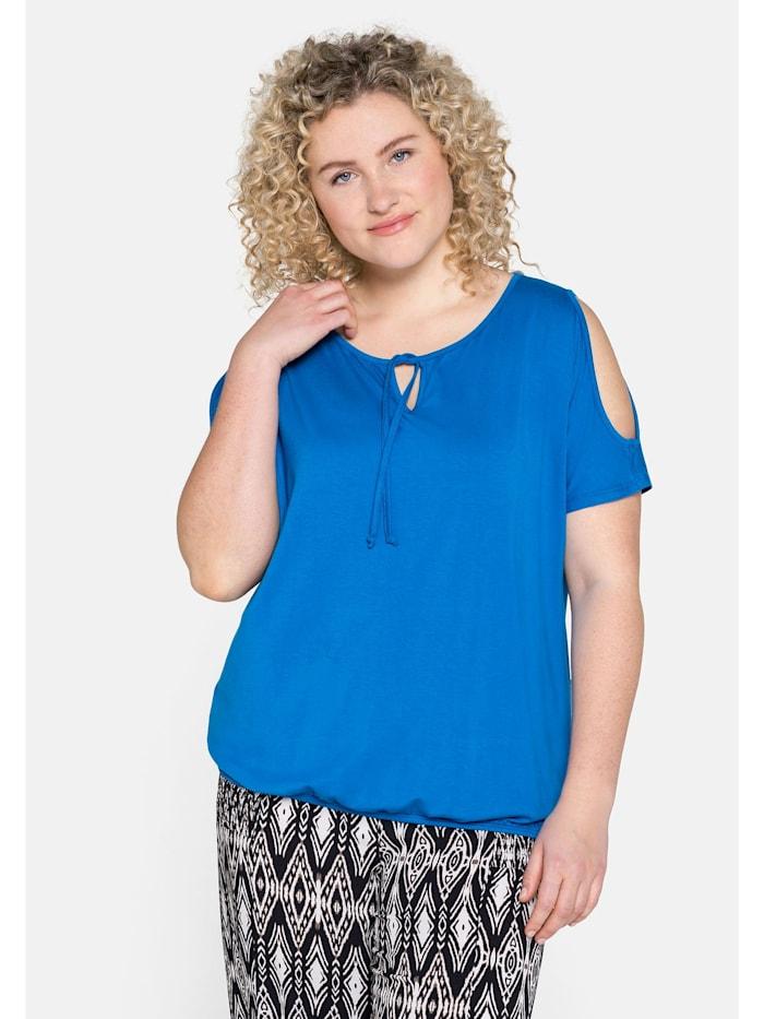 Sheego Sheego Strandshirt, ozeanblau