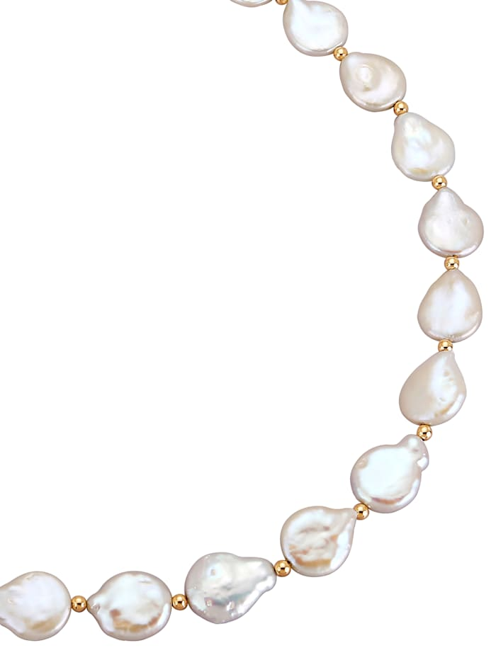 Diemer Perle Biwa-helmikaulakoru, Valkoinen