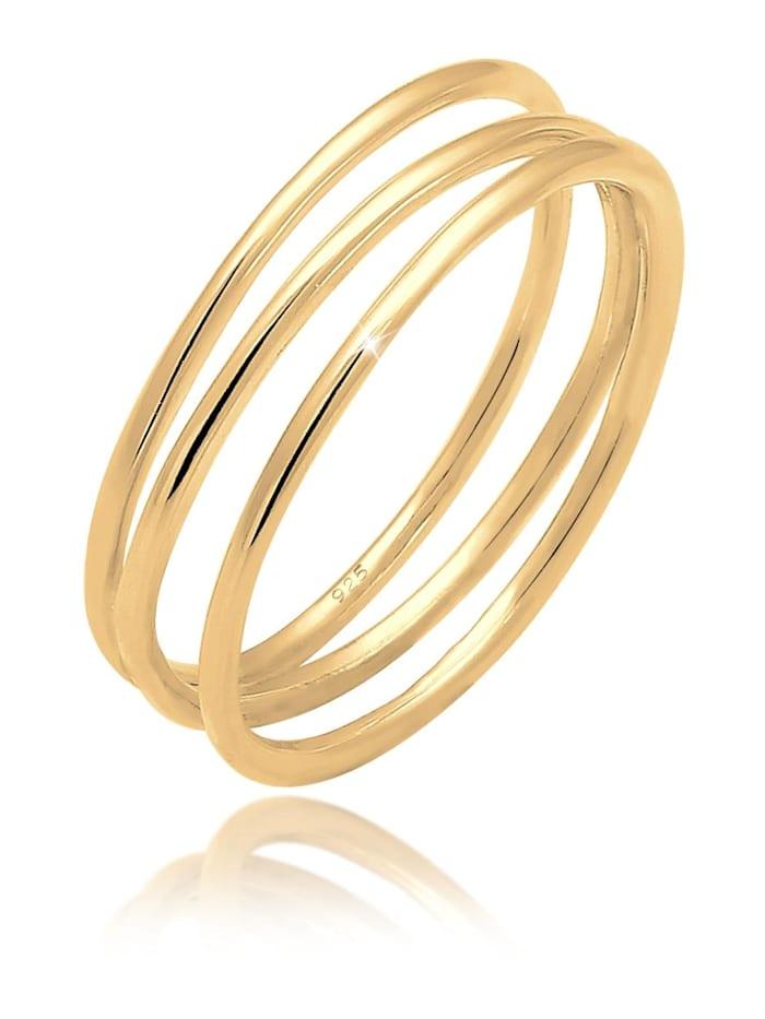 Elli Ring Wickelring Filigran Blogger Trend 925 Silber, Gold