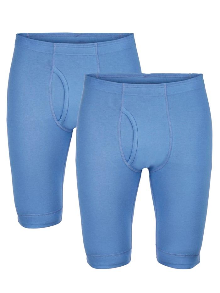 HERMKO Boxerkalsonger med långa ben, Blå