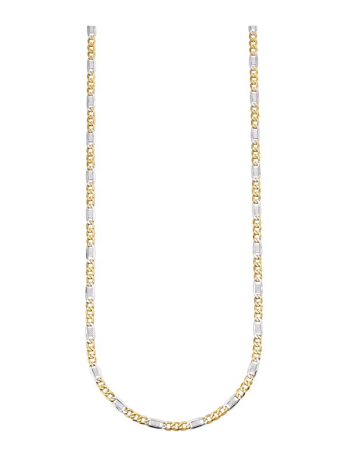 Collier maille fantaisie en différentes nuances d'or, Coloris or jaune