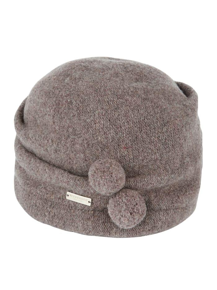 Chapeau en laine avec pompons décoratifs