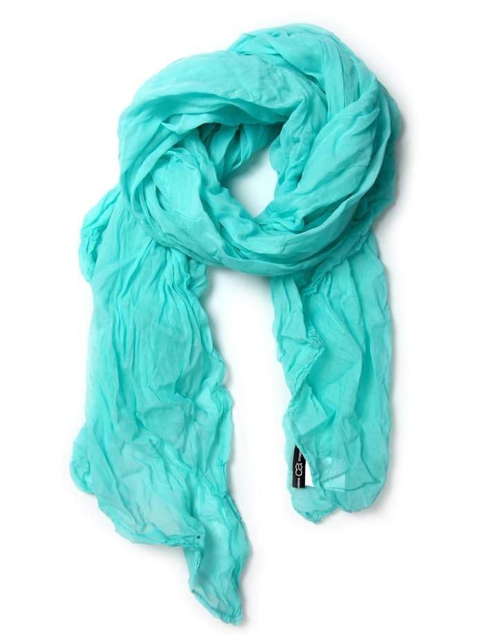 Collezione Alessandro Italienischer Schal Uni Made in Italy, aqua