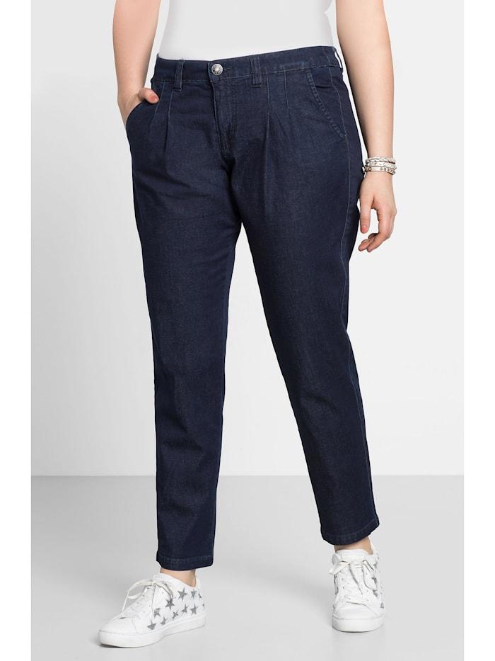 Sheego Chino-Jeans, dark blue Denim