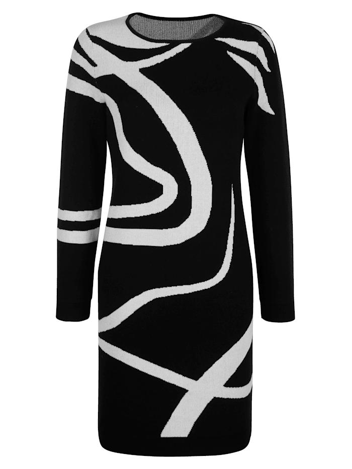 Strickkleid im exklusiven Dessin von Alba Moda