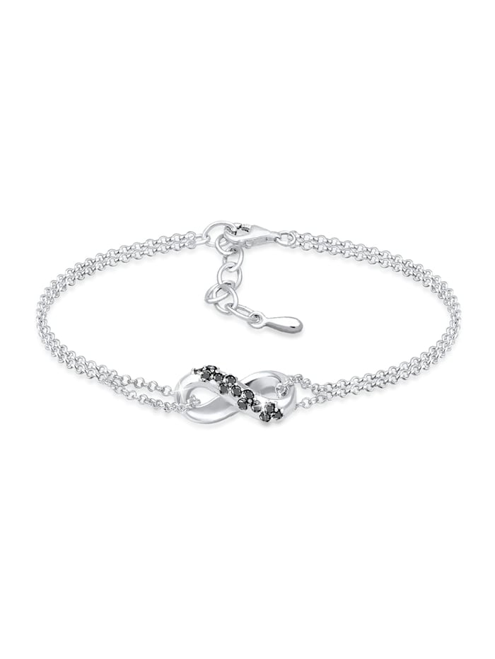 DIAMONDS Armband Infinity Symbol Diamant (0,195 Ct.)925 Silber Noir, Silber