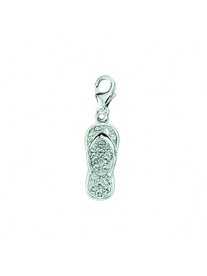 1001 Diamonds Damen Silberschmuck 925 Silber Charms Anhänger Schuh mit Zirkonia, silber
