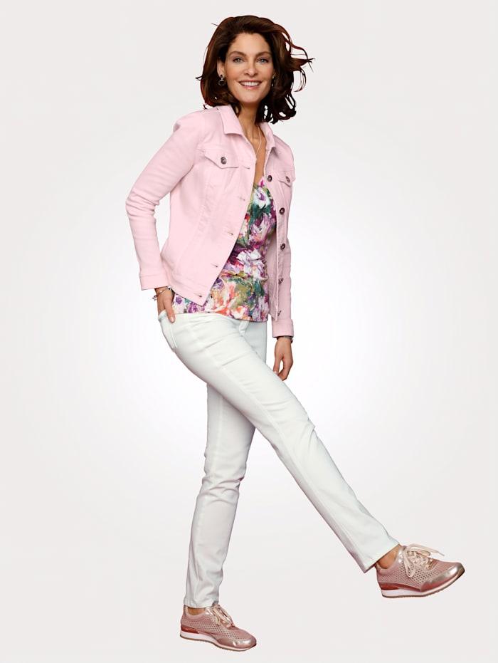 Jeansjakke i elastisk materiale