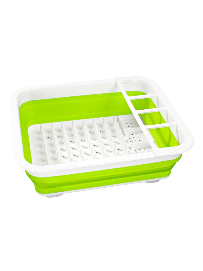 Égouttoir à vaisselle gain de place, Vert/blanc