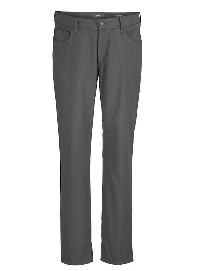 Pioneer Kohokuvioiset suorat housut, Harmaa