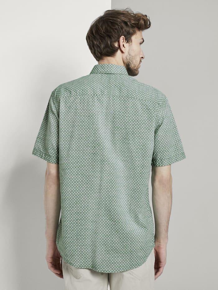 Gemustertes Kurzarm-Hemd mit Struktur