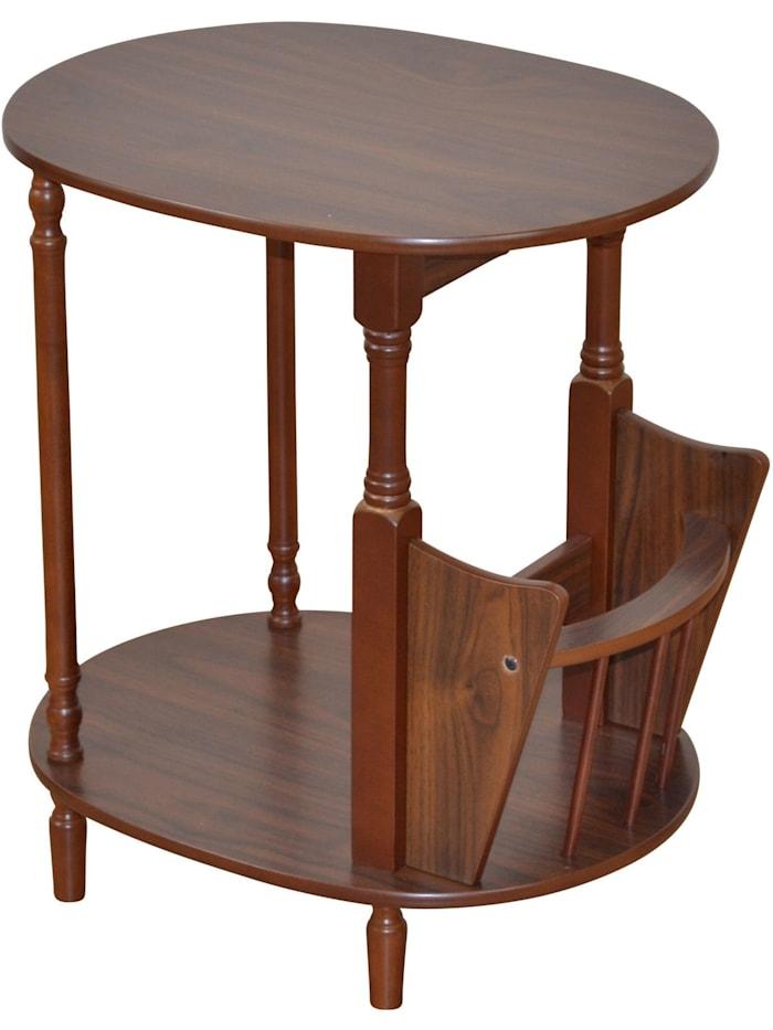 Möbel-Direkt-Online Beistelltisch Rusti, nussbaumfarben