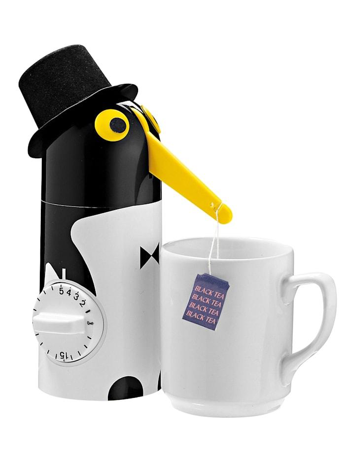 Küchenprofi Tee-Pinguin mit Präzisions-Timer, schwarz