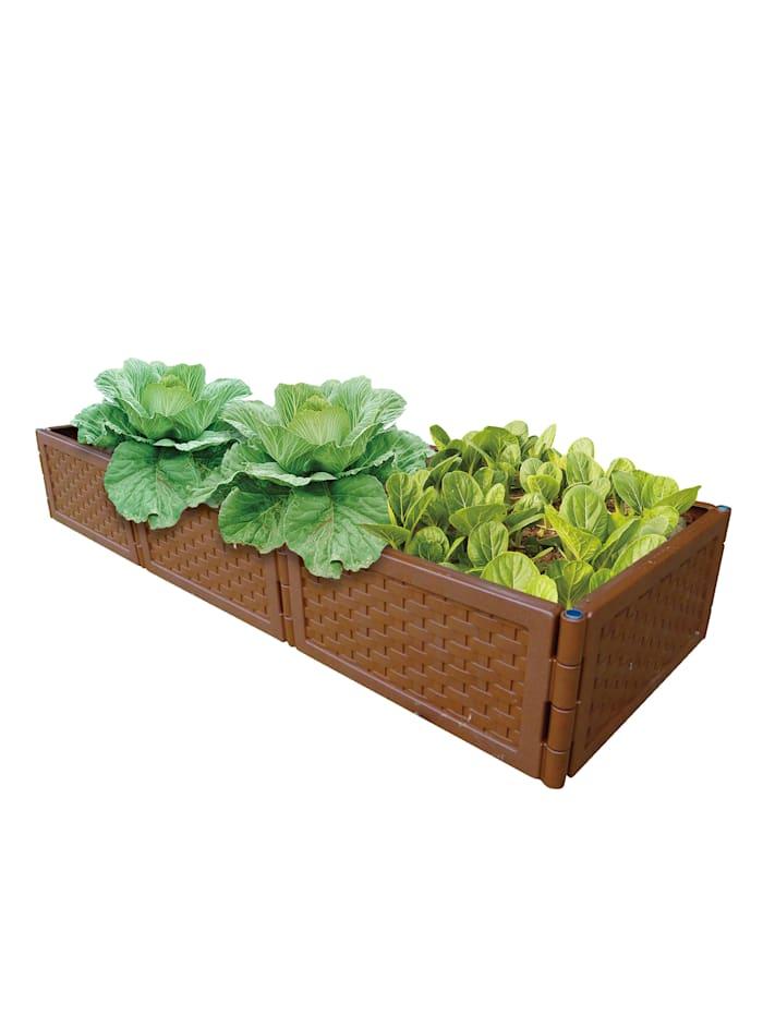 UPP Set van 3 plantenbakken, Bruin
