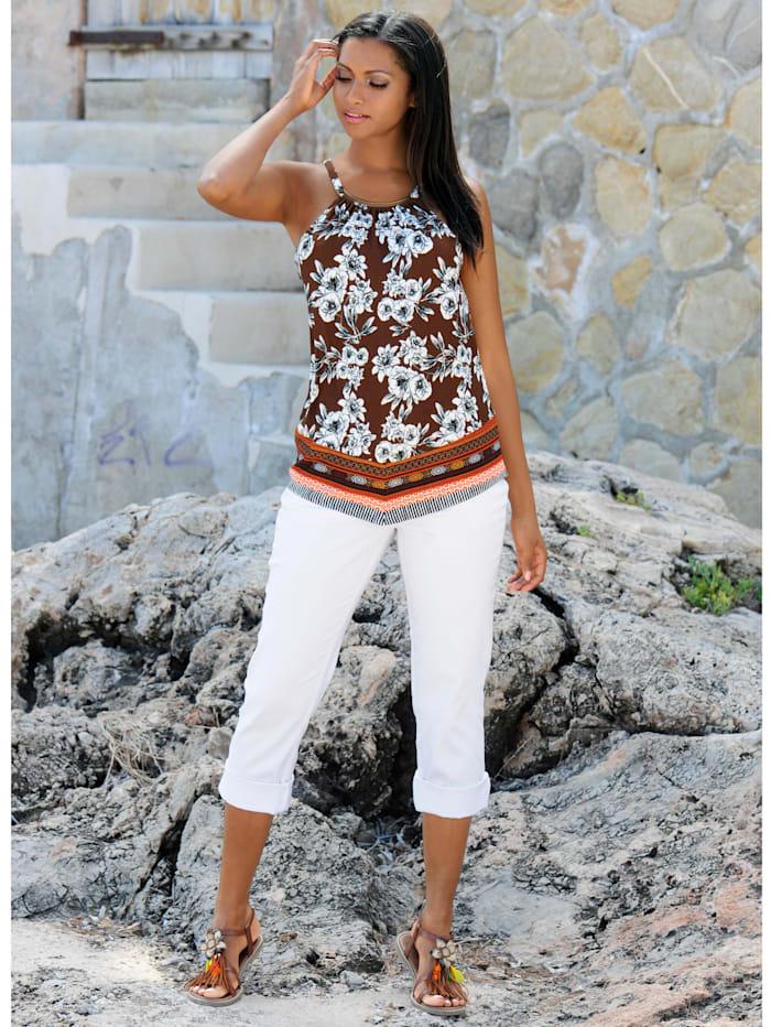 Strandshirt mit goldenem Zierteil
